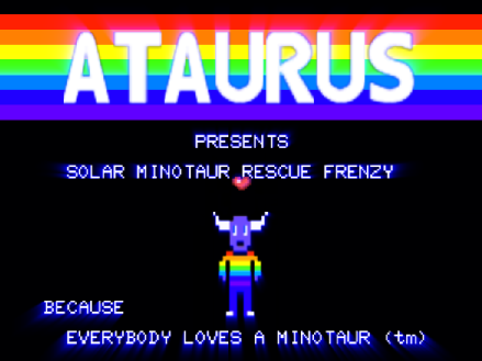 Minotaur Rescue title screen