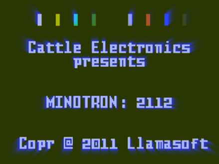 Minotron title screen